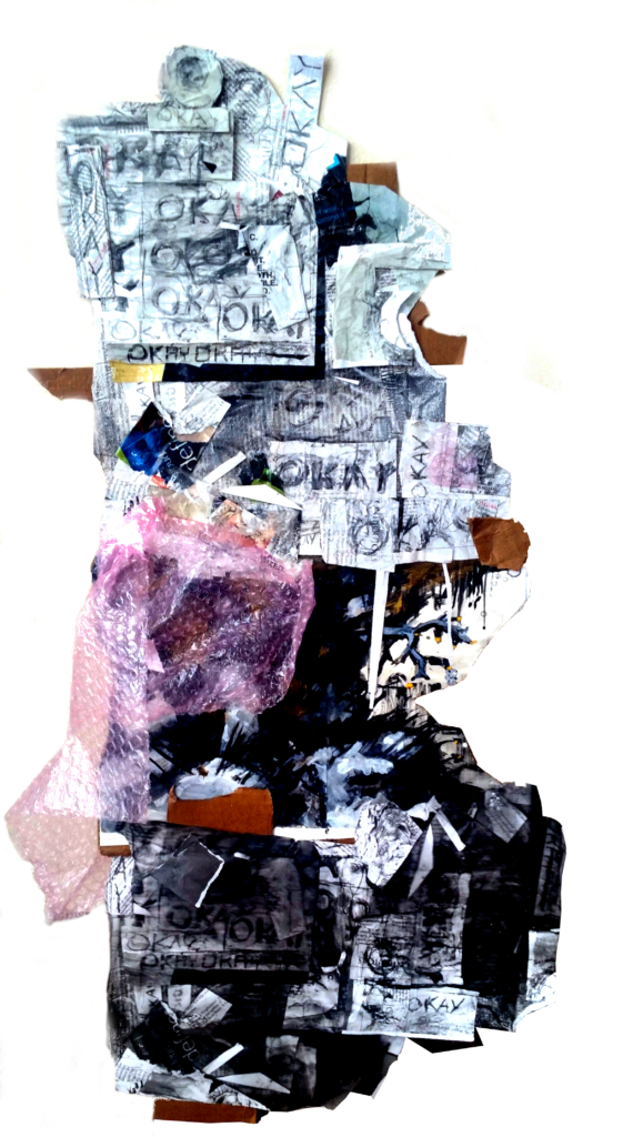 Paper, Cardboard, Plastic, Graphite, Ink Collage  Copyright William Doty, 2016